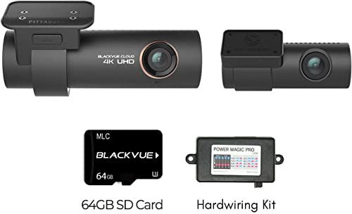Blackvue DR900S-2CH with Power Magic Pro Hardwire Kit 2-Channel 4K Dashcam 64GB SD Card