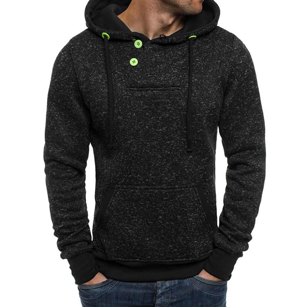 Styledresser Camicie Uomo Slim Fit,Uomo Puro Colore Accostare Lungo Manica Felpa Top Camicetta 17.18