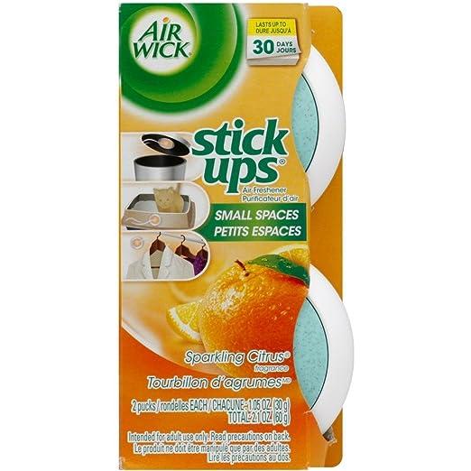 Air Wick Stick Ups Air Freshener, Sparkling Citrus, 2 Count