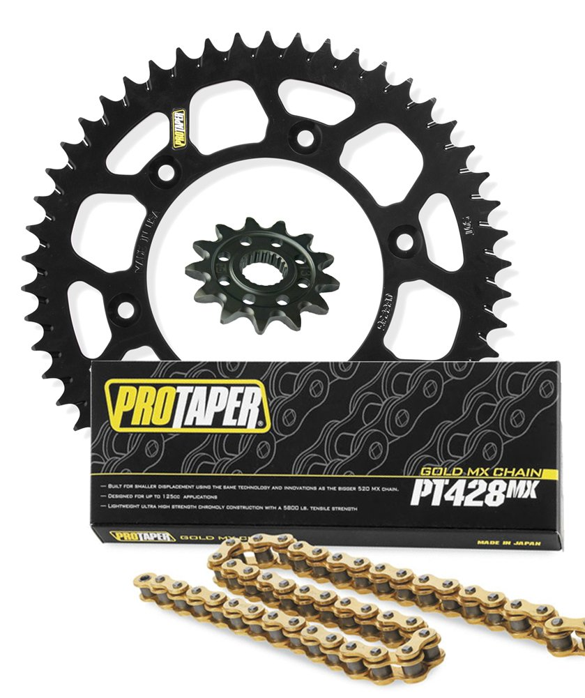 Pro Taper Front & Rear Sprockets & PT428MX Chain Kit - 14/47 BLACK - Yamaha YZ85_033318|033196|023103