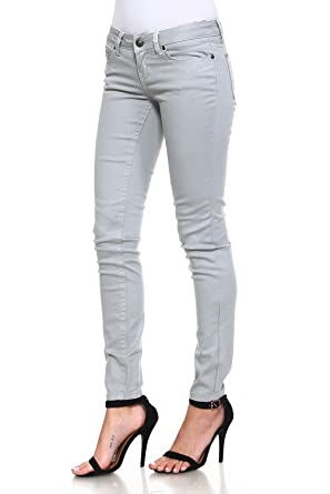 Amazon.com: Petición Jeans Juniors metálico pantalones ...