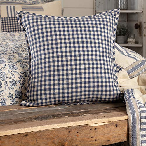 - Piper Classics Doylestown Blue Check Throw Pillow Cover, 20
