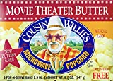 uncle willies popcorn - Cousin Willies Movie Theater Butter Microwave Popcorn 8.7 Ounces (Pack of 3)