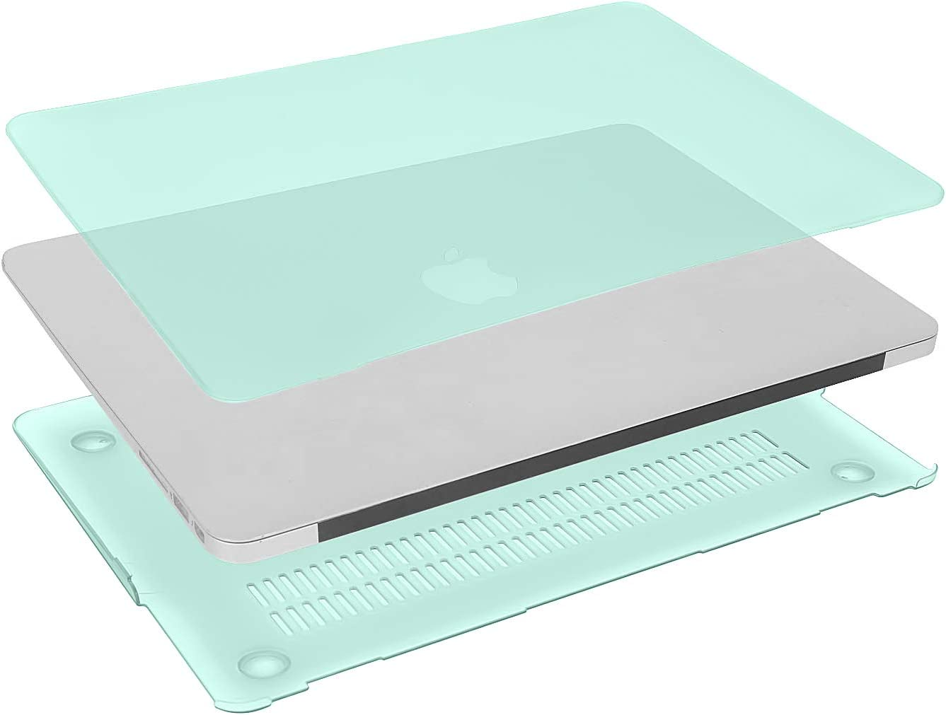 MOSISO MacBook Air 13 inch Case Older Version 2010-2017 Release A1369 A1466 Plastic Hard Shell Case /& Keyboard Cover Skin /& Wipe Cleaning Cloth Only Compatible with MacBook Air 13 inch Mint Green