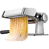 Pasta Machine, iSiLER 150 Roller Pasta Maker, 9 Adjustable Thickness Settings Noodles Maker with Washable Aluminum Alloy…