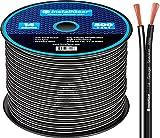 InstallGear 14 Gauge AWG 500ft Speaker Wire Cable - Black