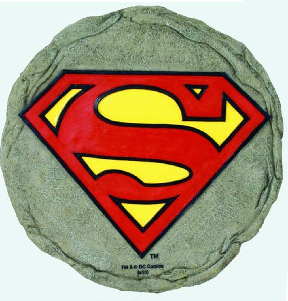Spoontiques 13331 Superman Logo Stepping Stone, Multi