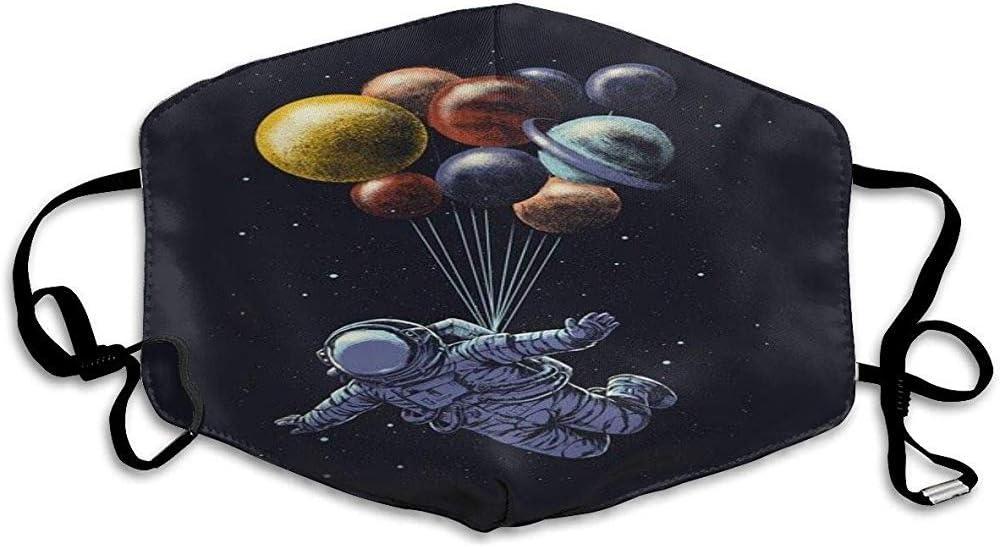 jonycm Mascarillas Bucales Astronauta Volando En El Planeta Patrón Unisex Antipolvo Parque Lavable Impresión Diseño De Moda Reutilizable Al Aire Libre Colorido Máscara Bucal Escuela Para