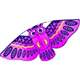 Hengda Kite For Kids 44inch Children Cartoon Owl Birds Kites with 30m Flying Line-Green