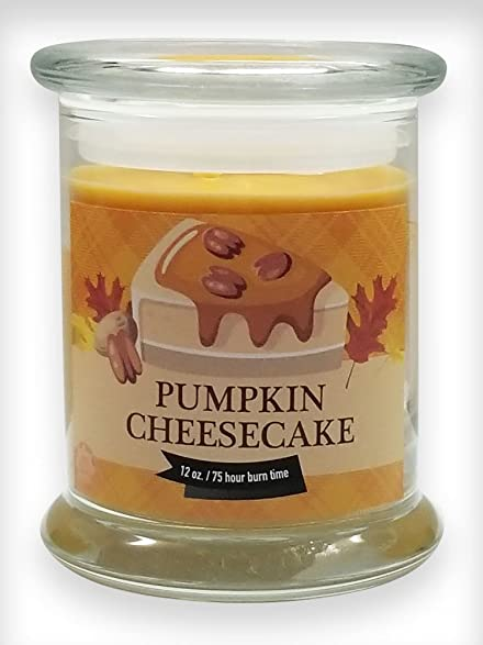 Pumpkin Cheesecake Natural Scented Soy Wax 12oz Fall & Winter Candle ~ Aromatherapy Soy Candles Burn