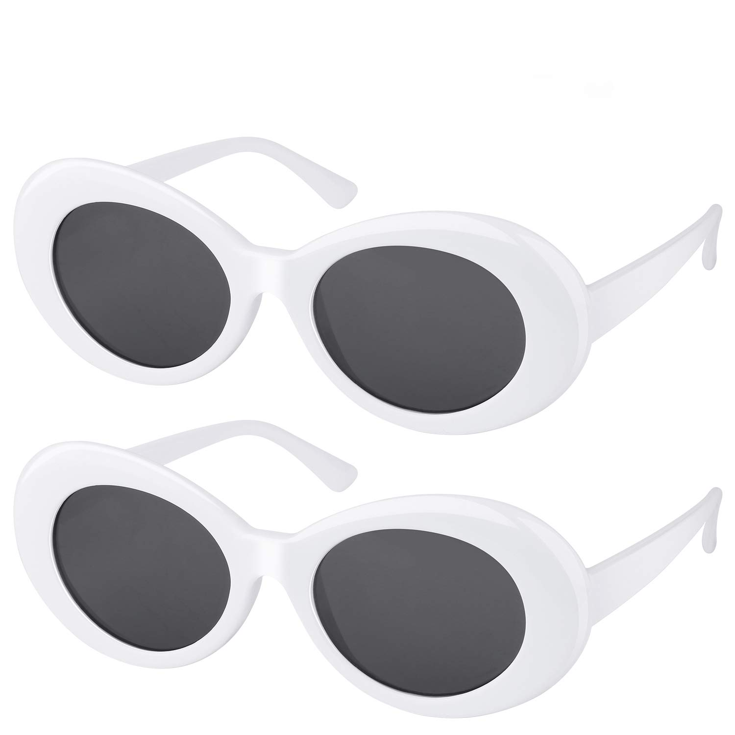 7d42f30c82  One Price for Two  Elimoons Clout Goggles Bold Retro Oval Mod Thick Frame  Sunglasses Round Lens ...