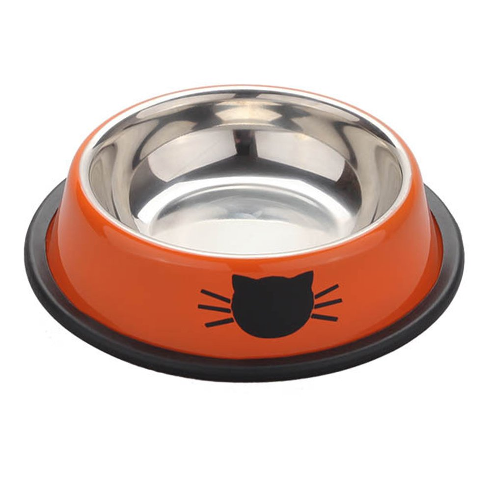 Roblue Non Slip Pet Bowls Stainless Steel Dog Cat Bowls Food Water Feeder Dishes YEAH