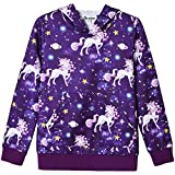 Teen Girls Hoodies Shirts Star Unicorn Sweatshirt Spring Fall Outfit Clothes