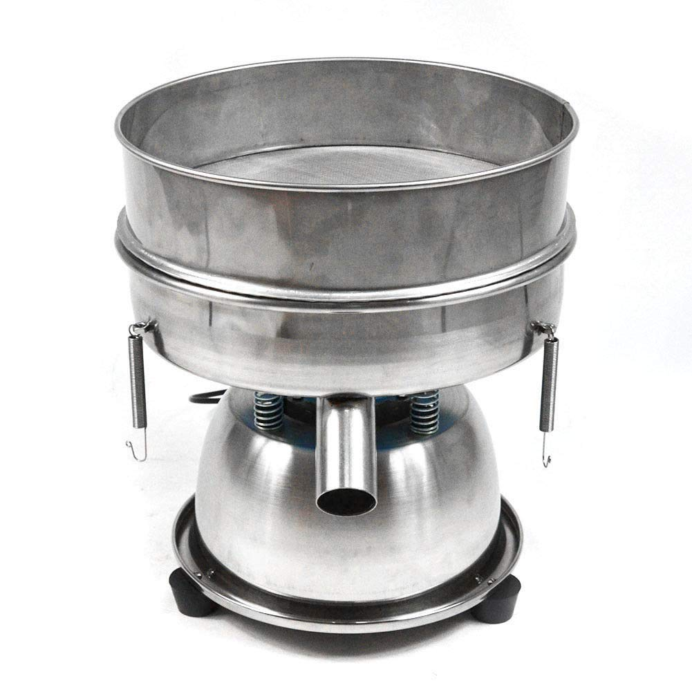110V Stainless Steel 300mm Electric Vibrating Sieve Machine Sifters for Powder Particles