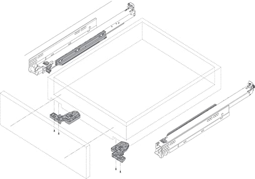Soft-Closing Schubladen-Auszug inkl Blum Tandem 566H7000B Gedotec Schubladenschiene Vollauszug 700 mm mit Blumotion D/ämpfung Ausz/üge f/ür Holz-Schubk/ästen 1 Paar Tragkraft: 50 kg Kupplungen