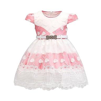 94e89a5483941 Oyedens Robe Bébé Fille Fille de Fleur de Mariage Robe de Princesse Bébé  Fille Tutu Princesse
