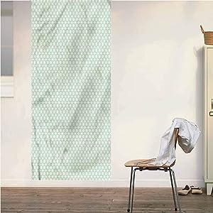 Poppy Ramsden Turquoise ONE Piece Door Stickers Wall Murals,Classical Retro Art Peel and Stick Vinyl Door Mural Decals for Door/Wall/Fridge,32x95 Inch