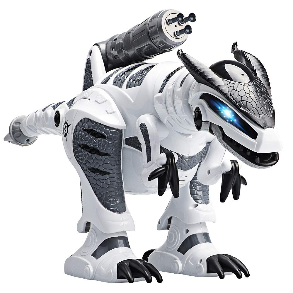 M AOMEIQI Intelligent Remote Control Dinosaur Electronic Programmable Interactive Robotic Dino Toy with Lights and Sounds,Rotation Stunt,Missile Launchers by M AOMEIQI (Image #1)