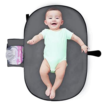 Tragbare Wickelunterlage Windel Matte mit Taschen für Babys