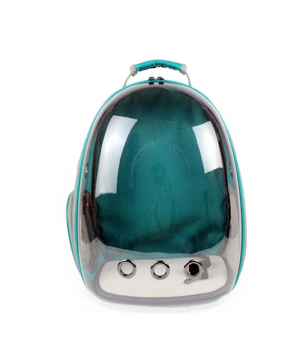 Green Transparent Space Waterproof Panoramic Pet Bag Portable Pet Cage Travel Walking Bus Suitable for Cat Puppy (29cm27cm42cm Green Yellow Red bluee Suitable for 8kg Cat 6kg kg Dog)