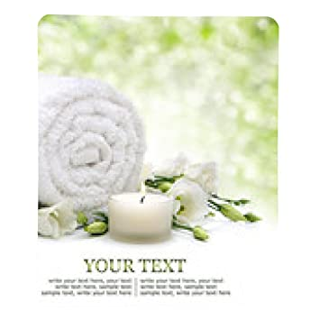 alfombrilla de ratón Fundamentos de spa con toallas y flores y velas: Amazon.es: Electrónica