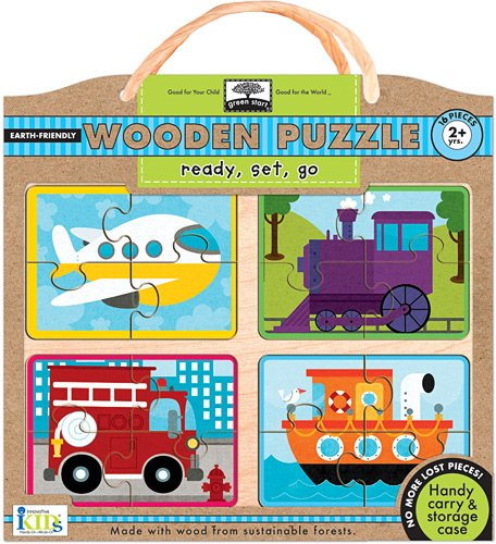 Green Start Wooden Puzzles - Innovative Kids Green Start Wooden Puzzles: Ready, Set, Go (2Yrs+) Puzzle