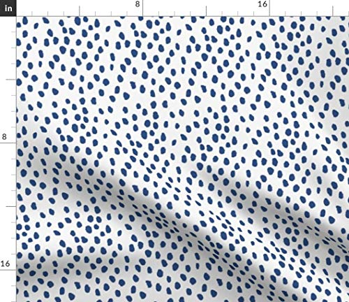 Dots Fabric - Abstract Scatter Drapery Upholstery Fabric Print on Fabric by The Yard - Sport Lycra for Swimwear Performance Leggings Apparel - Dot Drapery Fabric