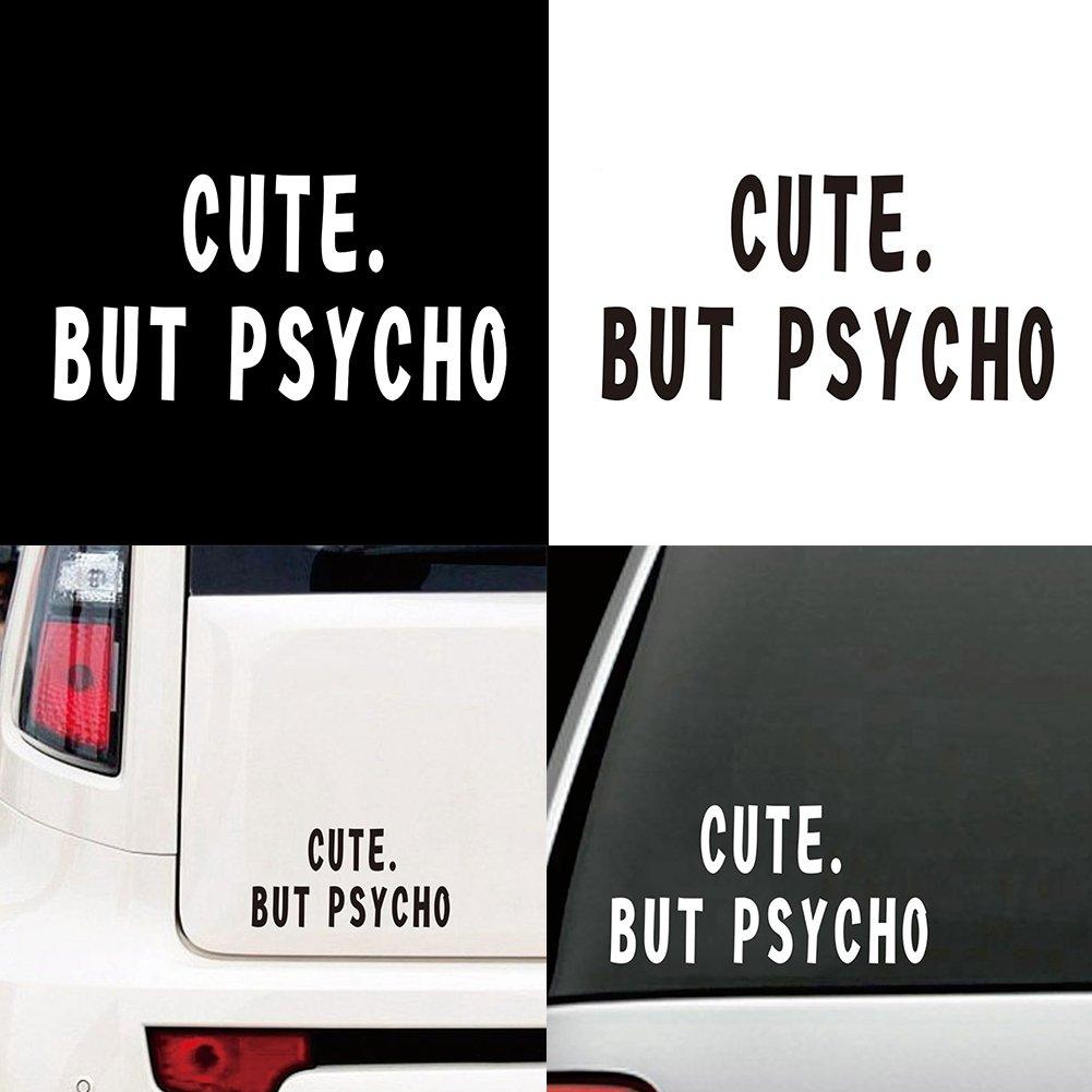 LAPUTA Car Sticker External Decoration Car Sticker Funny Letters Style Car Truck Body Window Decal Reflective Sticker Decoration Black
