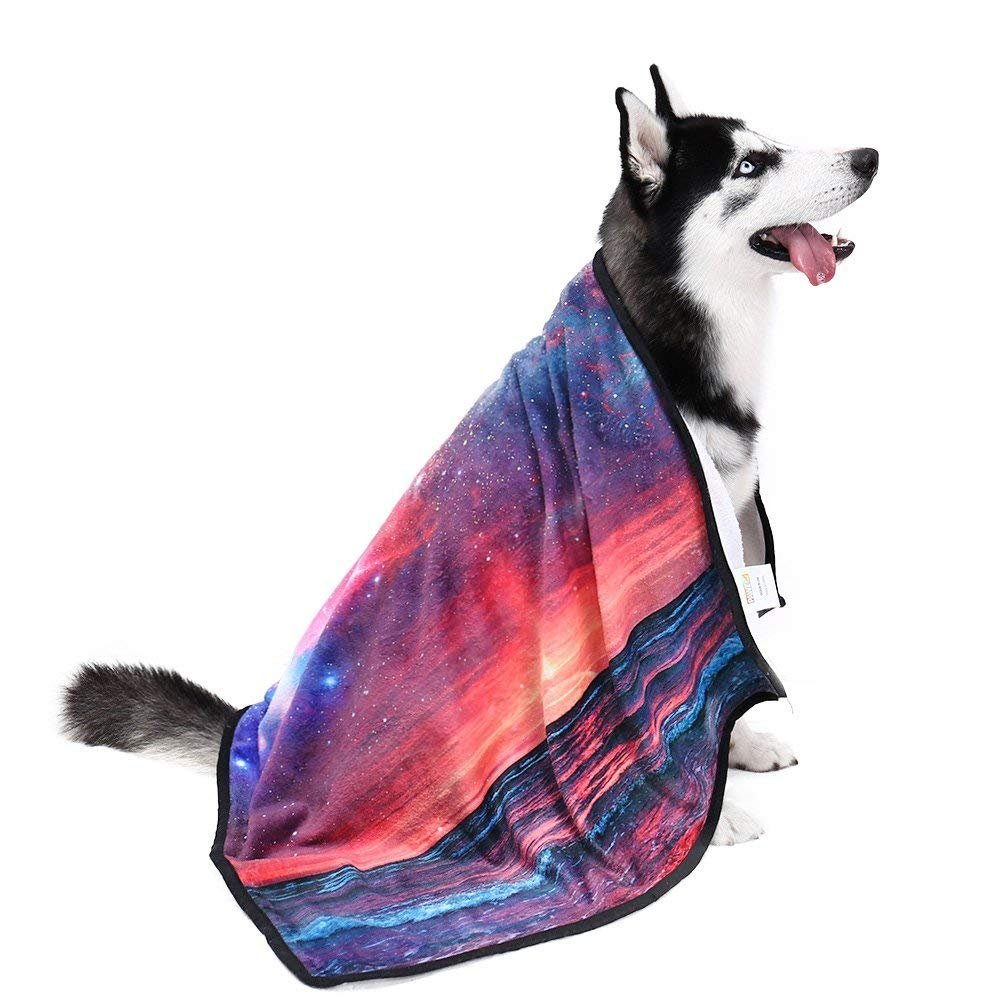 PAWZ Road 3D Dog Blanket-Snuggle Soft Flannel Blanket for Dogs Cats and Small Animals (Customization is Coming Starry Sky M