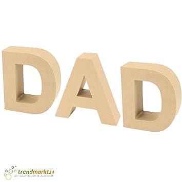 Papp-Buchstaben Set DAD ✓ Papp-Mache Deko-Buchstaben-Set ✓ XXL ...
