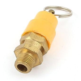 Tono de oro amarillo 1/8 rosca macho PT Válvula de seguridad 4 kg Compresor