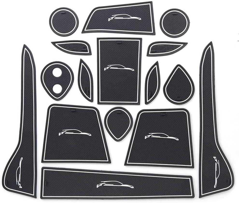 SYJY-SHOP Autot/ürgummi Slot Pad nur for Toyota CHR CHR 2016-2018 Gummi-Auto-T/ür-Groove Mats Gatterschlitzauflage rutschfeste Innent/ür-Pad Dekorationen Set Ersatz Farbe : Red