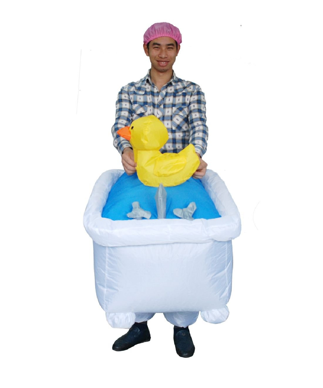 Adult Inflatable Bathtub Costume Halloween Funny Game Dress