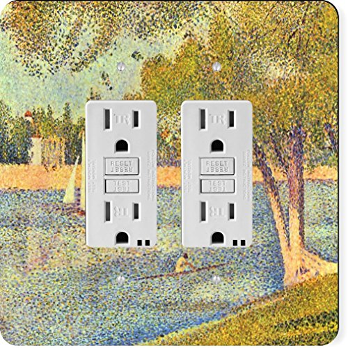 Rikki Knight 3092 Gfidouble Georges-Pierre Seurat Art The Seine At Grande Janne Design Light Switch Plate