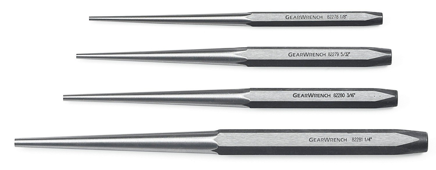 GEARWRENCH 82307 4 Piece Long Taper Punch Set by GearWrench (Image #1)
