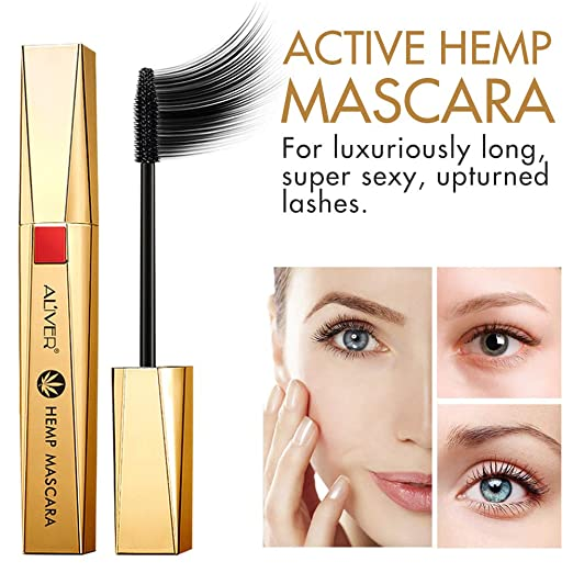 0ea1f353e53 Aliver HEMP MASCARA Lash luxury infused Silk Fiber Long Lasting Curve  Lengthening Mascara Volume And Thickening Mascara Dramatic Extension  Smudge-proof ...