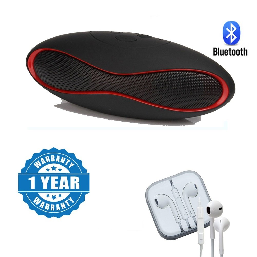 Captcha Rugby Ball Shaped Wireless Hands-free Bluetooth Speaker With Earpod 3.5mm Handsfree Headset with Mic