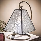 J Devlin Lam 693 Tiffany Stained Glass Mini Lamp in Clear Florentine Glass Vintage Night Light Accent Lighting