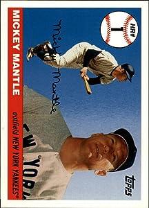 2006 Topps Mantle Home Run History #1 Mickey Mantle MLB Baseball Trading Card