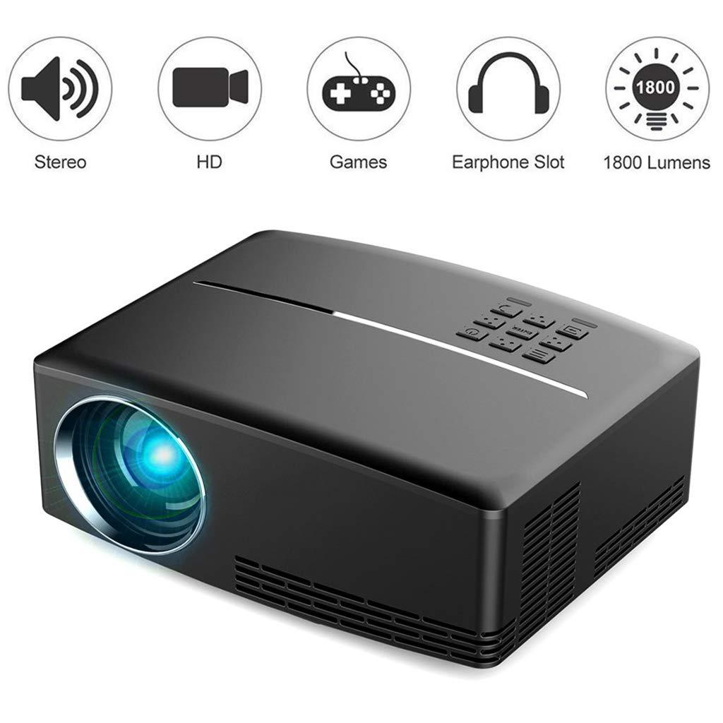XSWE Mini proyector de Video, 1800 lúmenes LED portátil Multimedia ...