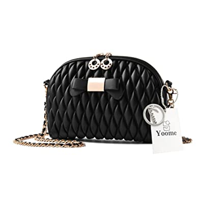 Yoome Elegant Small For Dating Chain Bag Bowknot Fold Wallets For Teen Girls Mini Handbags For