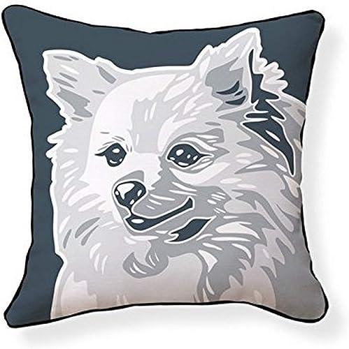 Naked Decor Pomeranian Pillow, Dark Light Grey