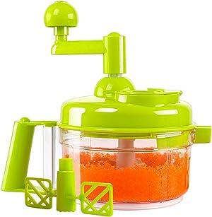KEOUKE Hand Crank Food Processor - Manual Food Chopper Blender Mixer Cutter Meat Grinder for Vegetables, Fruits, Salad with a Egg Separator