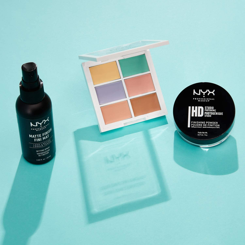 NYX Professional Makeup Kit de bestsellers Bestsellers Kit, Set de maquillaje de 3 piezas: Paleta de correctores, polvos fijadores, spray fijador: Amazon.es: Belleza