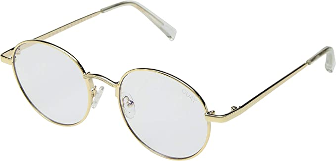d807e9e672fa QUAY AUSTRALIA Unisex I See You - Blue Light Glasses Gold Clear Blue Light  One Size  Amazon.co.uk  Clothing