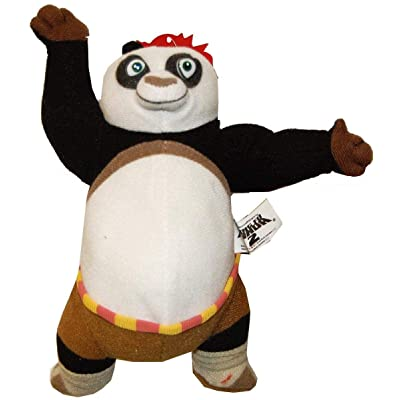 "Toynk Kung Fu Panda 6.5"" Plush Panda with A Fist: Toys & Games"