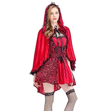 Reooly◕‿◕Cosplay Traje Rojo de Halloween de la Mujer ...