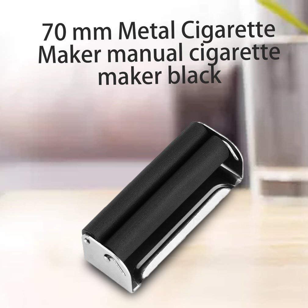 in Metallo Facile da Usare 70 mm creatspaceE Macchina per rollare Sigarette Manuale Colore: Nero
