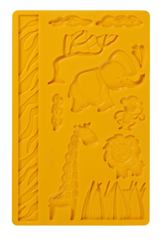 Wilton Fondant and Gum Paste Silicone Mold, Jungle Animals