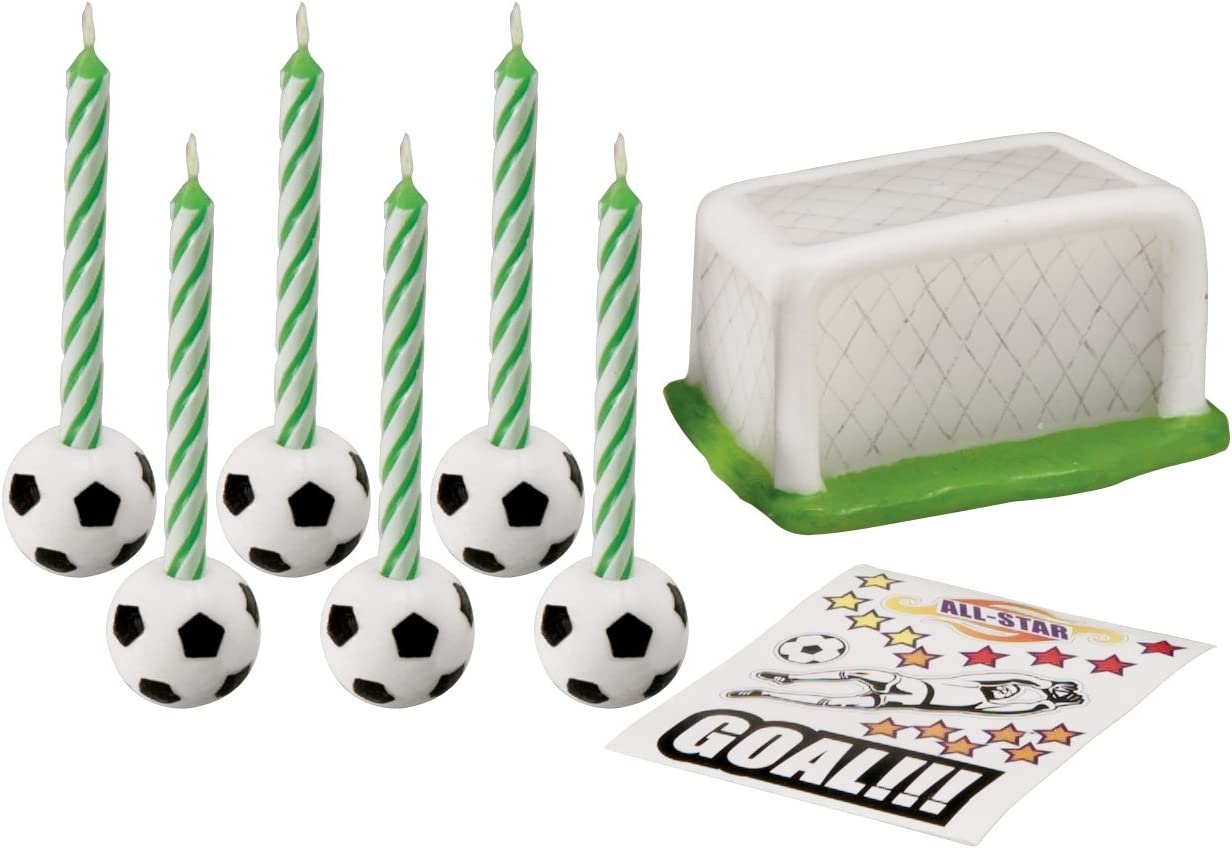 Wilton Set de Velas de fútbol, Hojalata: Amazon.es: Hogar